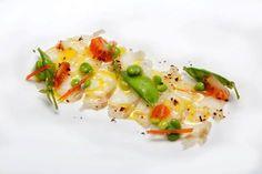 Carpaccio de bacalao ahumado, verduras de primavera y tomate secos - Certamen Gastronómico Horeca 2016