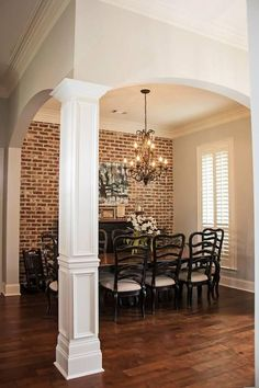 Love the brick wall and the front of this house. Madden Home Design - Acadian House Plans, French Country House Plans French Country Dining Room, French Country House Plans, French Country Decorating, Country Living, Country French, Country Houses, Country Home Design, French Country Fireplace, French Country Chandelier