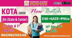 New Batches for GATE, ESE, PSUs & SSC JEn Exam Preparations at Engineers Academy Kota Center. Call - 08290256340. Address:- P.No.-7A, 18 Second Floor, Near Mahaveer Nagar-3 Circle, Rangbari Road, Kota-324005 (Rajasthan)