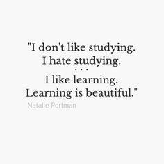 I like learning. xx