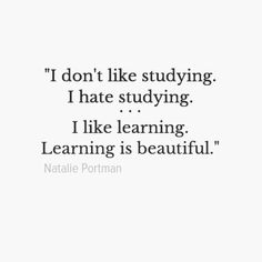 I like learning. xx