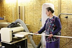 Elizabeth Floyd has a good start on her own woodworking business. She's still working full time and is proceeding carefully building her business to provide income when she retires.