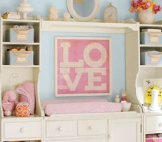 girls nursery - love picture
