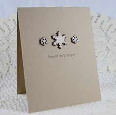 CAS Card with glittered snowflakes...