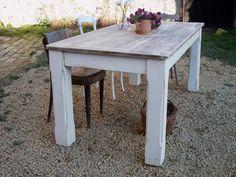 stůl Florencie - smetanový/patina - vintage :: design Lucie Novotná