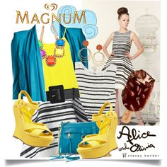 """""""Some Like It Hot with MAGNUM Ice Cream"""" by houseofhauteness on Polyvore"""