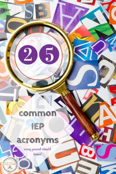 All those acronyms associated with special education can be confusing--so we narrowed it down to 25 commonly used ones. Includes a printable list.