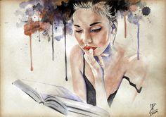 MoP_Book_02, Media: Watercolor on paper, Size: A4 (21 x 30 cm) by Miro Zgabaj https://www.facebook.com/pages/Miroslav-Zgabaj-Drawing-Painting/114161501988357?ref=aymt_homepage_panel