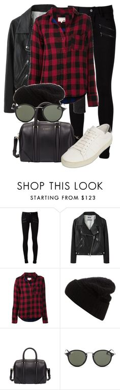 """""""Untitled #1974"""" by annielizjung ❤ liked on Polyvore featuring Paige Denim, Acne Studios, rag & bone, Givenchy, Ray-Ban and Yves Saint Laurent"""