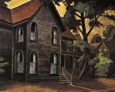 Sulphurous Evening, Charles Burchfield   c. 1923