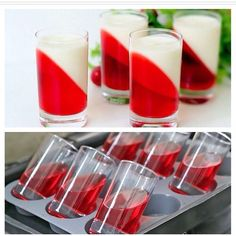 Ideia bem legal para usar com gelatina! Patisserie Fine, Party Buffet, Snacks Für Party, Party Drinks, Food Platters, Food Decoration, Food Humor, Creative Food, Fancy Desserts