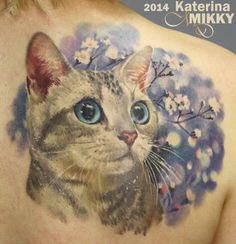 Pretty kitty tattoo