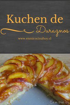 El kuchen de duraznos es de los más típicos en Chile, delicioso y en esta versión fácil y rápido..