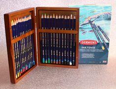 GIVEAWAY:- Derwent Inktense Pencil Crayons in Wooden Box