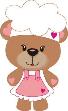 Osita Pastelera Clipart Baby, Bear Clipart, Cute Clipart, Gifs Cute, Wallpaper Animes, Canson, Minnie Png, Bear Theme, Baby Clip Art