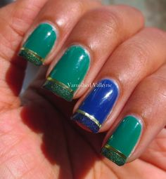 St. Patrick's Day Mani:  Brought to you by Power Nap