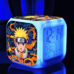 Naruto 7 Colors Change Digital Thermometer Night Led Clock //Price: $18.95 & FREE Shipping //   #pokemon #anime