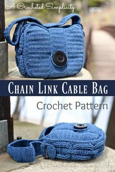Crochet Pattern - Chain Link Cable Bag by A Crocheted Simplicity