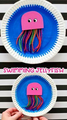 Ocean Kids Crafts, Summer Crafts For Kids, Diy For Kids, Summer Kids, Whale Crafts, Creative Ideas For Kids, Button Crafts For Kids, Sea Animal Crafts, Animal Crafts For Kids