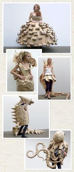 innovative cardboard costumes