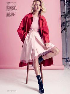 Rosie Huntington-Whiteley Goes Hyper Feminine Pink, Lensed By Alexi Lubomirski For Harper's Bazaar UK September2015