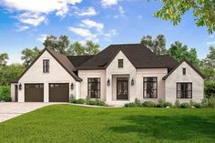 Exclusive 4-Bed French Country Home Plan with Optional Bonus Room - 51764HZ thumb - 01