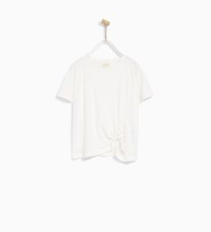 Image 1 of KNOTTED T-SHIRT from Zara