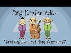▶ Drei Chinesen mit dem Kontrabass - Kinderlieder zum Mitsingen - YouTube
