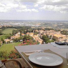La #Romagna vista dall'alto, #Bertinoro - Instagram by dandandr