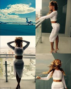 Beyonce puts her shapely figure on display in very revealing ensembles #dailymail