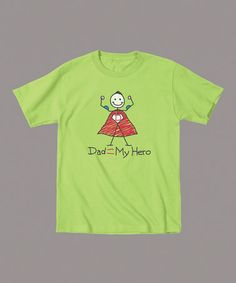 T-shirt:  Take a look at this Key Lime My Hero Tee - Toddler & Kids by Airwaves on #zulily today!
