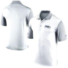 Seattle Seahawks Nike Preseason Performance Polo - White - $55.99
