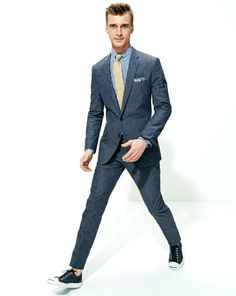 J.Crew Ludlow suit in Japanese chambray. T