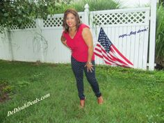 OOTD - Red White and Polka Dot Blue #Patriotic #Independence Day #4thofJuly #USA #Flag #OldGlory