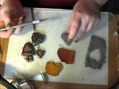 Tutorial showing how to create steampunk polymer clay charms
