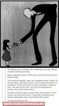 I agree with this message, but the Slender Man reference at the end is hilarious.