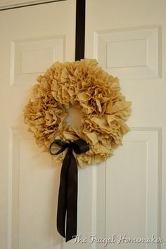 hang wreaths on the inside of doors for family to see all the time.  of course.