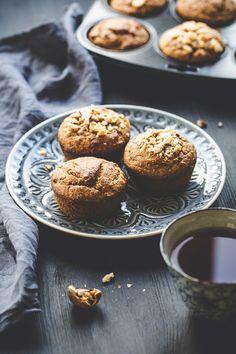 Vegan gluten free banana muffins