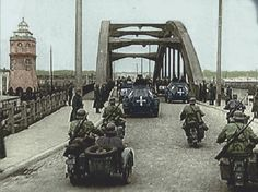 Danzig, Churchill, Ww2, World War, Poland, Europe, History, Soldiers, Motorcycles