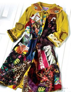 ECLECTIC ARTISAN Wearable Collage SALVAGE Art Coat of door mybonny, $329.00