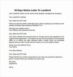 30 Day Notice To Landlord California Being A Landlord