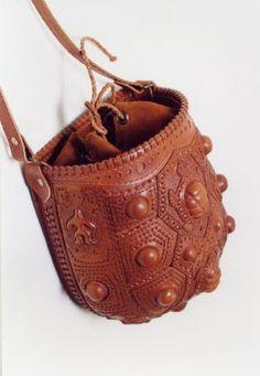 коричневая сумка из гладкой кожи ручной работы для мужчин