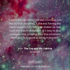 """I'm reading """"The Cop and the Captive"""" on #Wattpad. http://w.tt/1DOpUXQ #mysterythriller #quote"""