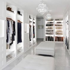 10 Luxury Walk-in Closet Design Ideas That Will Make Your Jaw Drop Walk In Closet Design, Bedroom Closet Design, Master Bedroom Closet, Closet Designs, Master Bathroom, Dream Home Design, Home Interior Design, House Design, Ikea Interior