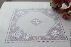 96,50$ Tablecloth square 140х140см. Скатерть