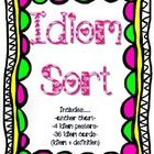 My students love idioms and adored this card sort activity!  This activity includes...    36 sorting cards (18 idioms/18definitions)  Idiom anchor cha...