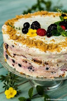 Snack Recipes, Dessert Recipes, Cooking Recipes, Snacks, Romanian Desserts, Cheesecake Recipes, Easy Desserts, Street Food, Food Videos