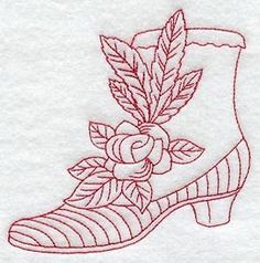 Redwork / Vintage Pattern available at Embroidery Library http://www.emblibrary.com/EL/Browse.aspx?Catalog=Emblibrary&Category=redwork+and+vintage/Fashion+Forward+(Redwork+and+Vintage)