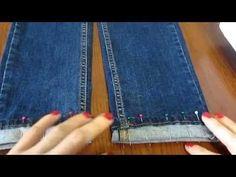 Мастер-класс 'Как подшить джинсы, оставив производственные потертости'