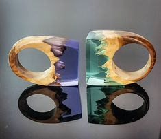 Purple or green? . New rings and pendants available NOW on our website. . ArtfulResin.etsy.com